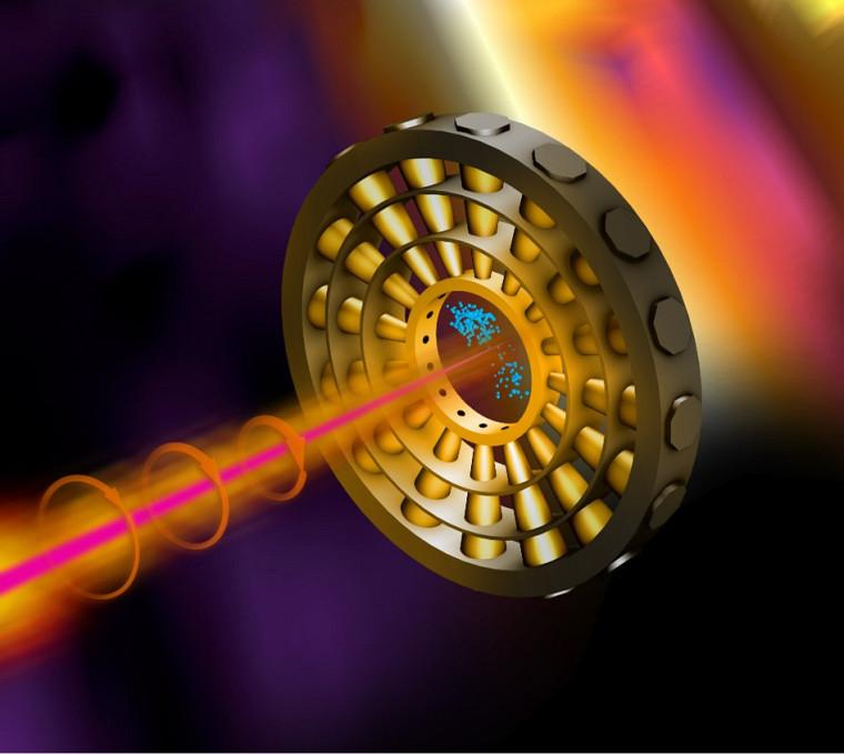 La PreAudrey Corbeil Therrien développe un système d'acquisition utilisant l'apprentissage machine pour undétecteur rayon X en construction au SLAC National Accelerator Laboratory.Le passage du pulse rayon X dans la chambre de gaz éjecte des électrons des atomes de gaz. Ce détecteur mesure l'énergie des électrons éjectés, ce qui nous indique l'énergie présente dans l'interaction.