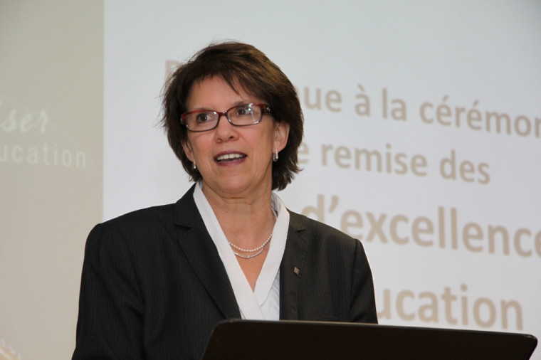 La professeure Luce Samoisette, rectrice de l'Université de Sherbrooke