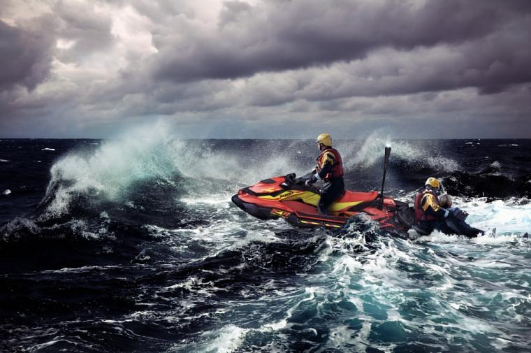 L'aboutissement du projet «Une motomarine adaptée pour sauver des vies»en action.