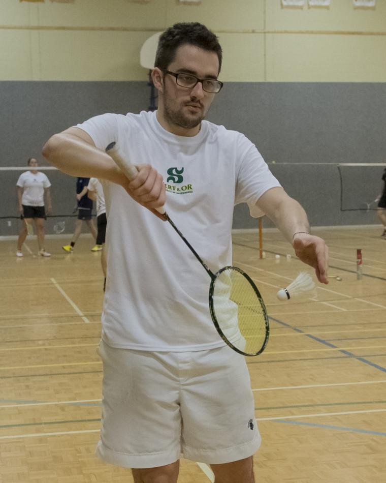 Marc-André Brault et les autres membres de l'équipe de badminton Vert&Or étaient à Chicoutimi en fin de semaine dernière pour prendre part à un tournoi par équipe féminin et masculin du RSEQ.