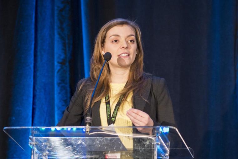 Marie-Josée Berteau, étudiante à la maîtrise en environnement et coordonnatrice du 26eColloque de l'AMEUS