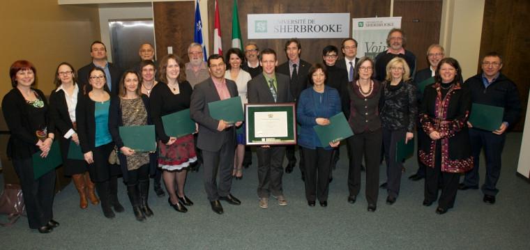 Les récipiendaires 2013 des prix Reconnaissance de la qualité de l'enseignement.