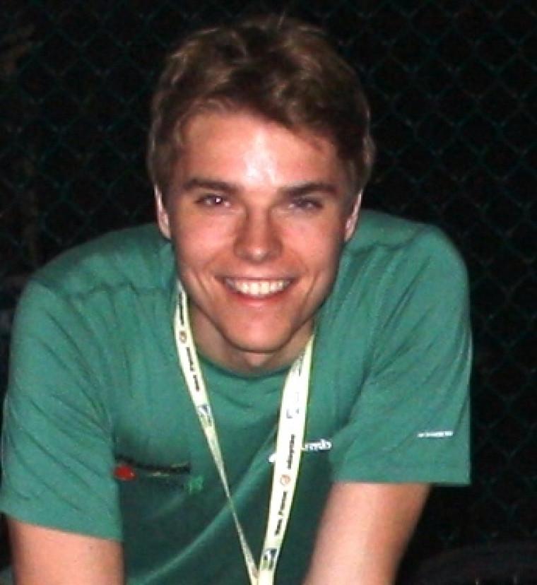 David Guérin, étudiant au baccalauréat en études de l'environnement et stagiaire à la Société hôtesse des Jeux d'été du Canada - Sherbrooke 2013.