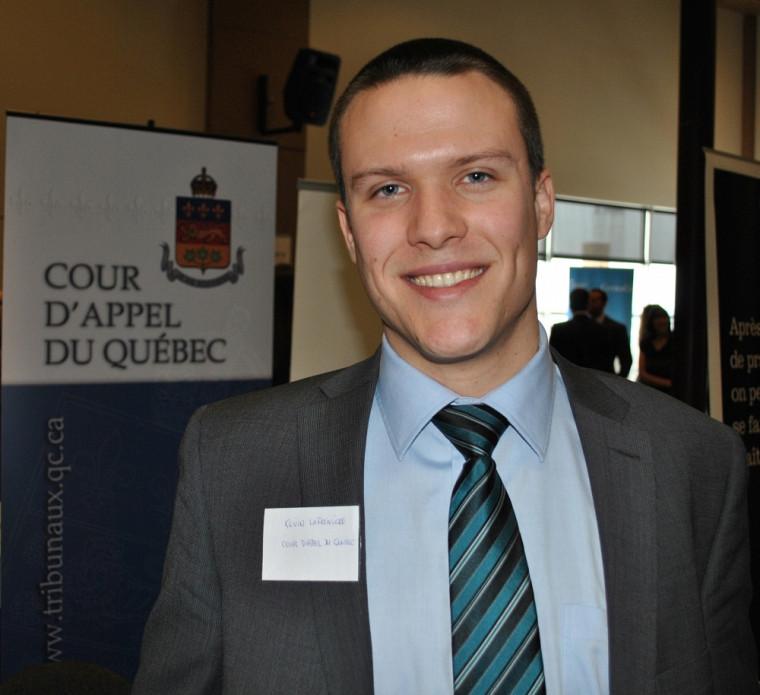 Kevin Lafrenière, diplômé en 2011, était très heureux de participer à la journée carrière.