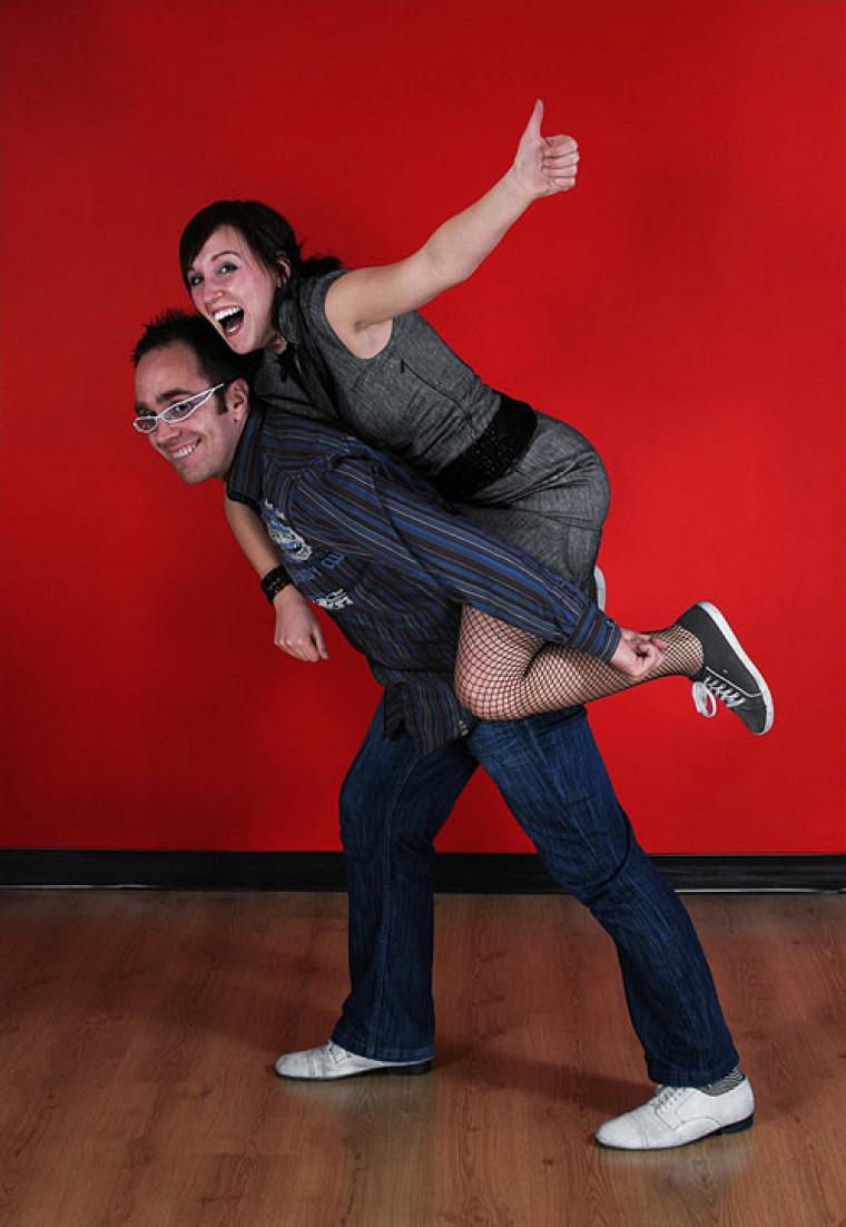 Dany et sa partenaire de danse Geneviève veulent faire connaître le swing.