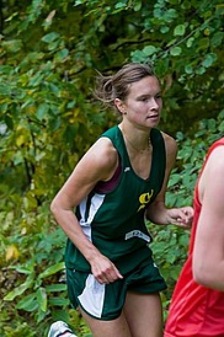 Valérie Bélanger a remporté l'Open de cross-country de l'Université du Nouveau-Brunswick, complétant le parcours de 5km en un temps de 17min52.