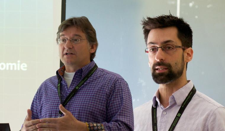 Jean-Pierre Béland et Jonathan Genest