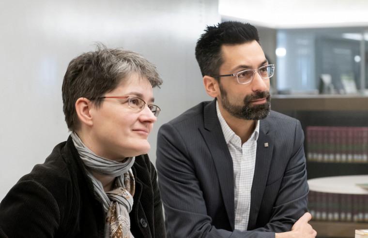 Sara Teinturier et Jonathan Genest (Photo prise avant les mesures sociosanitaires)