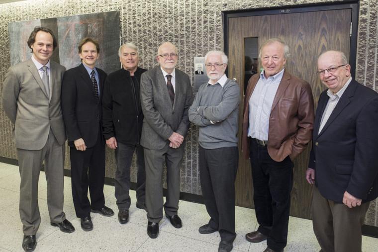 Plusieurs anciens doyens se sont réunis pour rendre hommage à Jean Melanson.