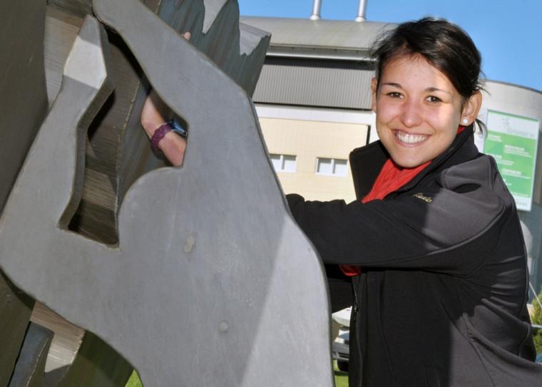 Jade Trudel-Sabourin, étudiante de 1re année au doctorat en médecine et athlète du Vert & Or.