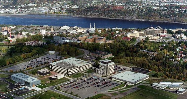 Vue aérienne de Saguenay.