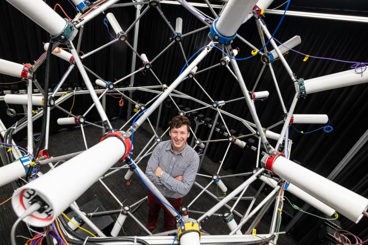 Pierre Grandjean, étudiant au doctorat en génie mécanique au GAUS