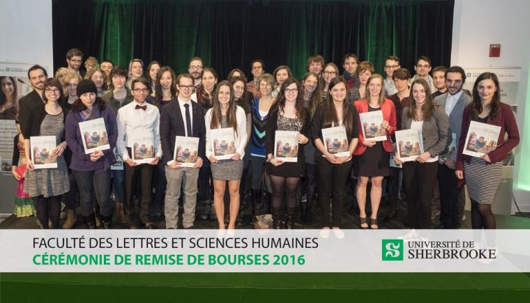 Les récipiendaires des bourses 2015-2016 de la Faculté des lettres et sciences humaines.