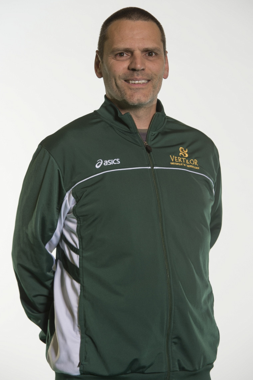 L'entraîneur-chef de la formation masculine de volleyball Vert & Or, Marc Lussier.