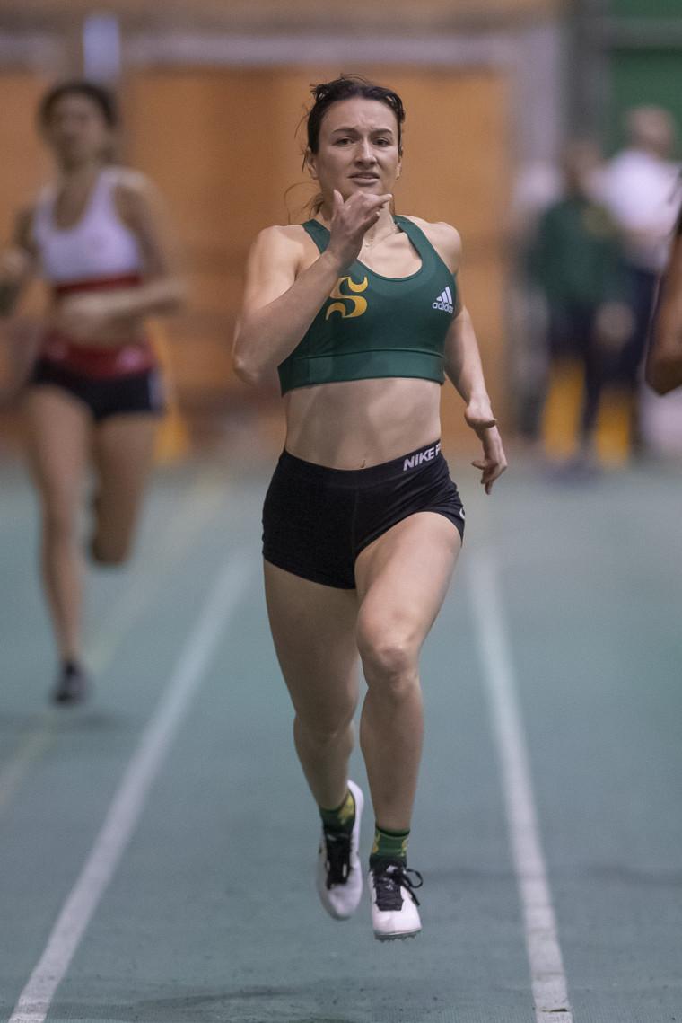 Claudie Leclerc, médaillée d'or au 300 m.