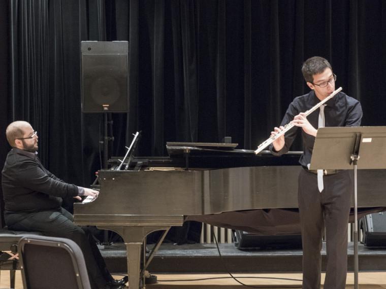 Jean-Philippe Bilodeau, flûtiste, accompagné au piano par Dantonio Pisano