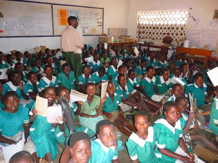 Une classe de 3e année au village de Golomoti, au Malawi.
