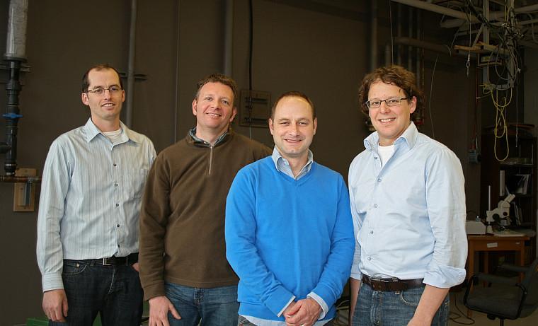 David Poulin, Bertrand Reulet, Michel Pioro-Ladrière et Alexandre Blais
