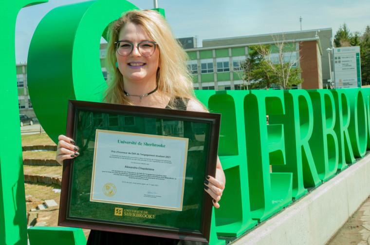 Alexandra Chapdelaine, du doctorat recherche en sciences de la santé, a remporté le prix Polyvalence.