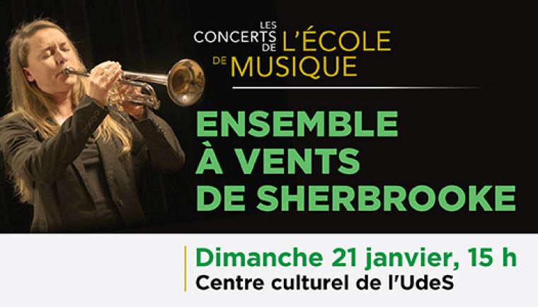 Ne manquez pas l'Ensemble à vents de Sherbrooke et l'Harmonie Montcalm le 21 janvier à 15h.