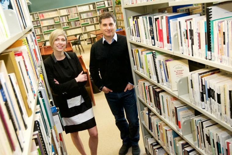 Les professeurs Marie-Eve Carignan et Marc D. David