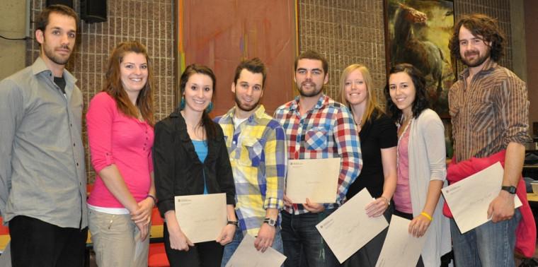 Les lauréats2012 des prix d'excellence décernés par le décanat de la FEPS, le vice-rectorat aux études de l'UdeS et la boutique LeCoureur.