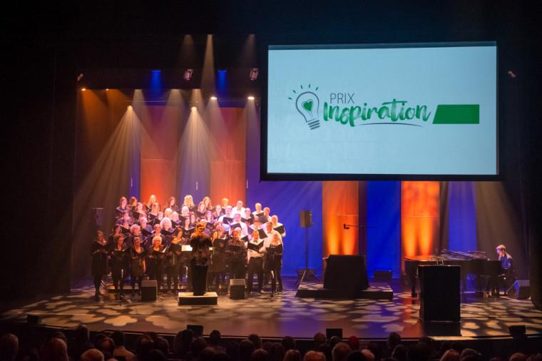 Des membres du Chœur Campus ont agrémenté l'événement de remise de prix de l'édition 2019.