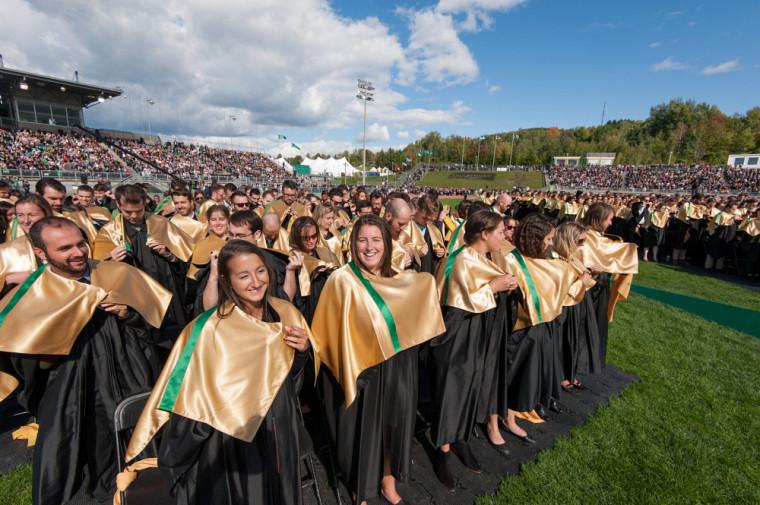 Les diplômés de la collation des grades 2016.
