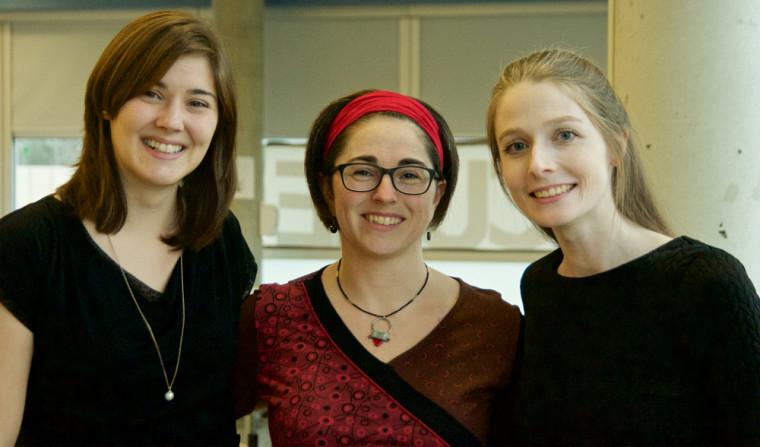 Les récipiendaires: Mesdames Kateri Raymond, Julie Lacerte, Mélanie Ruest.