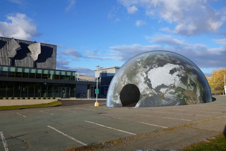Jour Gau dôme de la Terre dans le cadre de la Journée internationale de la géomatique(GIS DAY), le 18 novembre prochain à l'UdeS.