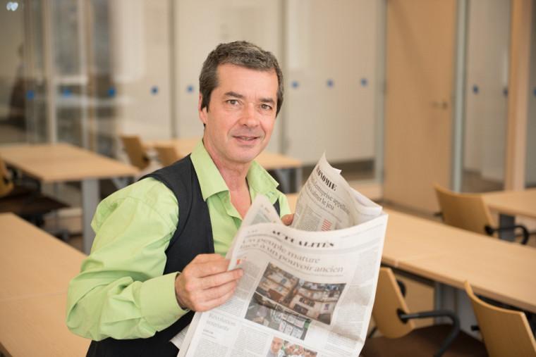 Mathieu-Robert Sauvé, étudiant à la maîtrise en communication