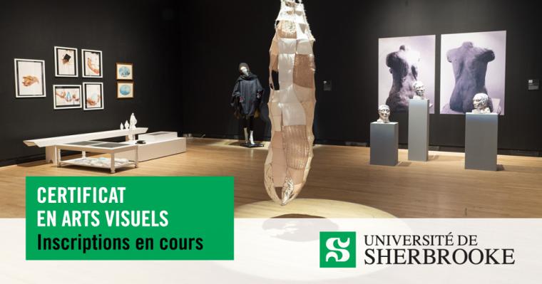 Exposition des finissantes et finissants 2019 du certificat en arts visuels à la Galerie d'art du Centre culturel de l'UdeS.