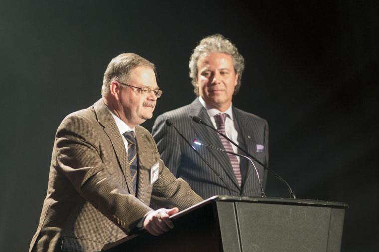 Les coprésidents d'honneur des Retrouvailles 2013, Robert Hall et Manlio Del Negro.