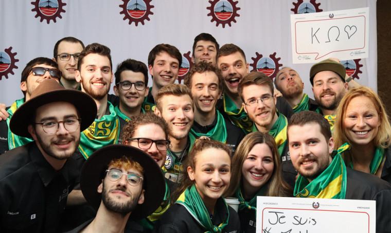 Voici la délégation sherbrookoise de futurs ingénieurs qui a décroché quatre podiums lors de la dernière Compétition canadienne d'ingénierie