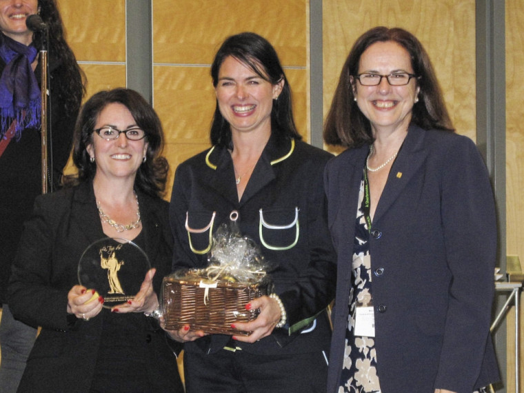 L'équipe du kiosque de Sherbrooke: Josée Perreault, Caroline Boutin et Luce Laguë.