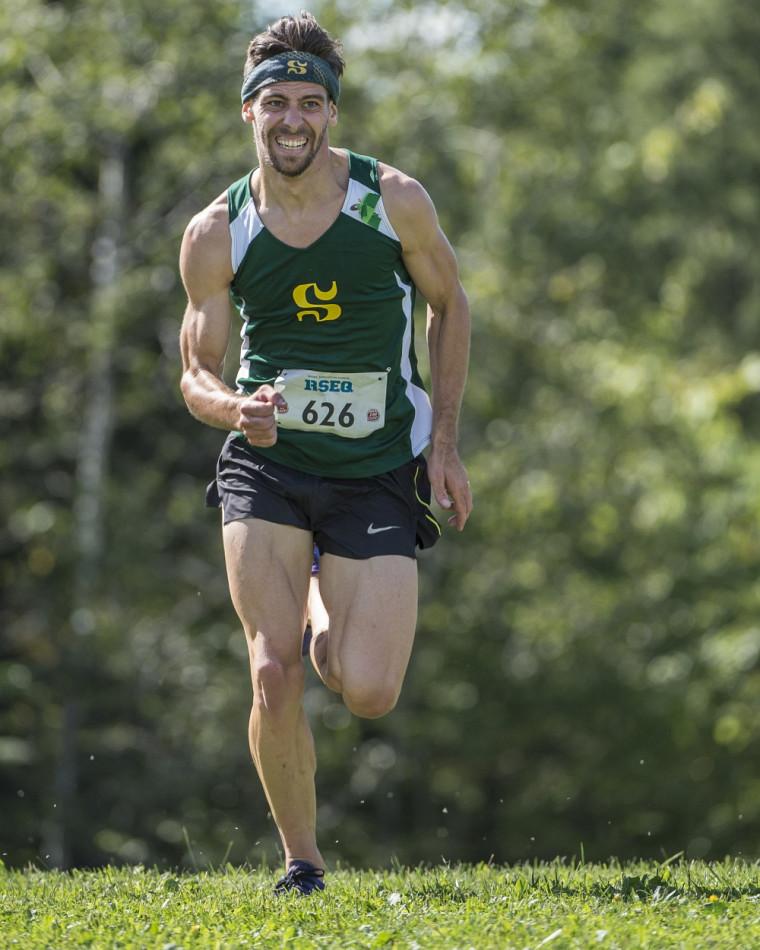 Le médaillé d'argent du 8 km masculin: Marc-André Raiche, du Vert & Or.