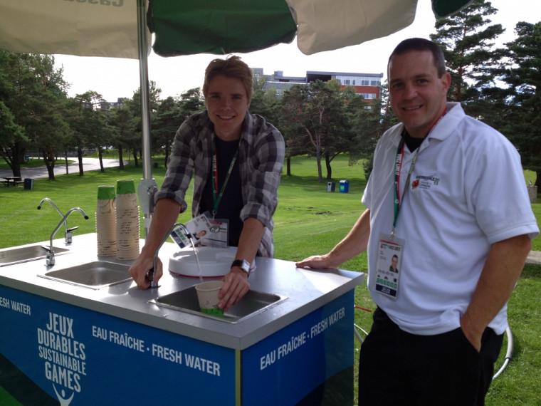 David Guérin a effectué un stage rémunéré de 15semaines aux Jeux du Canada sous la supervision de Patrice Cordeau. Il a notamment aidé à dépasser l'objectif de réduction de 50% des bouteilles d'eau de plastique utilisées durant les deux semaines de compétition.