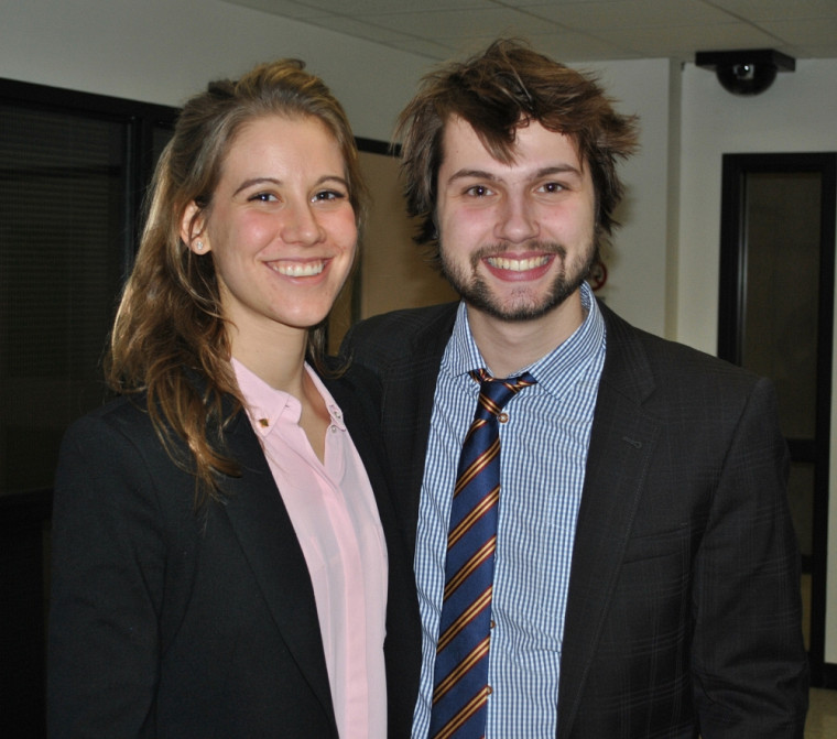 Les deux finalistes, Frédérique Tremblay et Vincent Paquet.