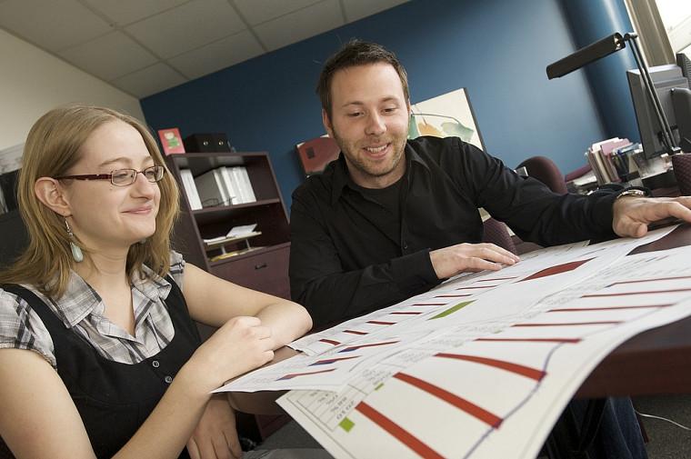 Mélissa St-Yves et Alexandre Brien ont travaillé à la compilation de la Relance2010