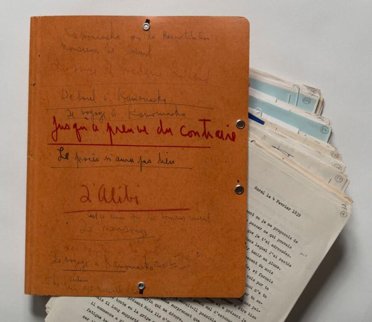 Titres envisagés par Anne Hébert pour son romanKamouraskasur la couverture de la première version du manuscrit, vers 1966.