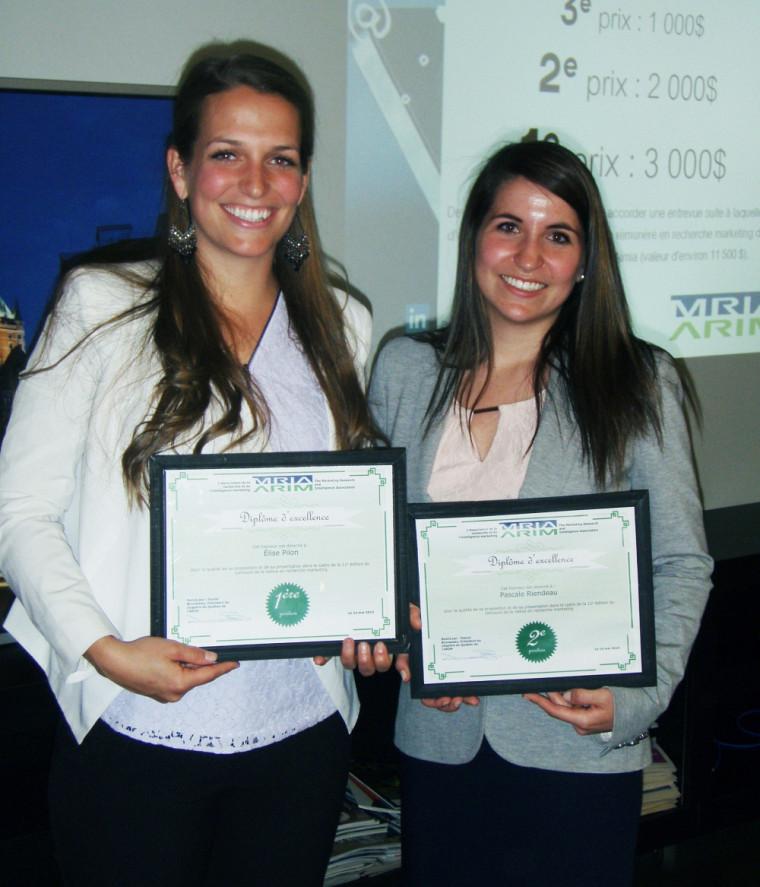 Élise Pilon et Pascale Riendeau, étudiantes à la Maîtrise en administration, concentration marketing, de la Faculté d'administration de l'Université de Sherbrooke.