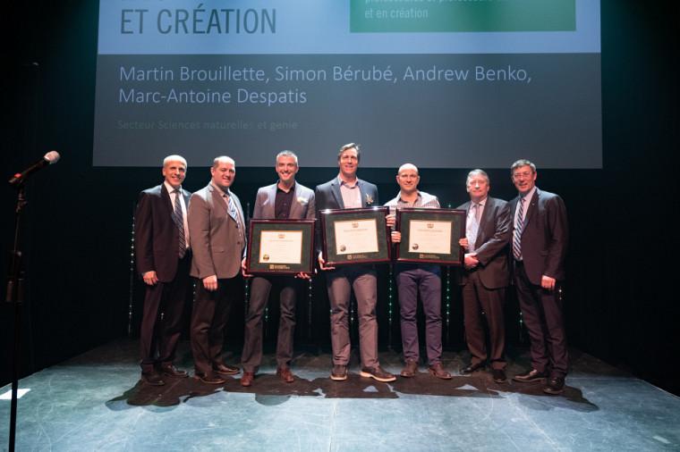 L'équipe SoundBite, récipiendaire du Prix de la recherche et de la création, catégorie Sciences naturelles et génie