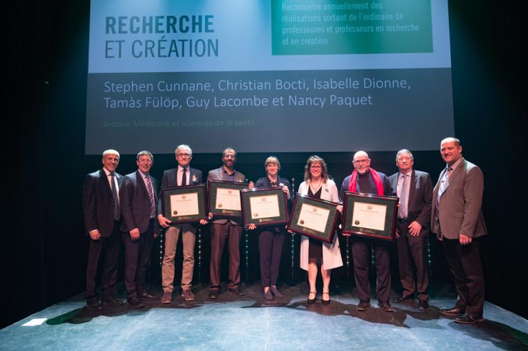 L'équipe récipiendaire du Prix de la recherche et de la création, catégorie Médecine et sciences de la santé