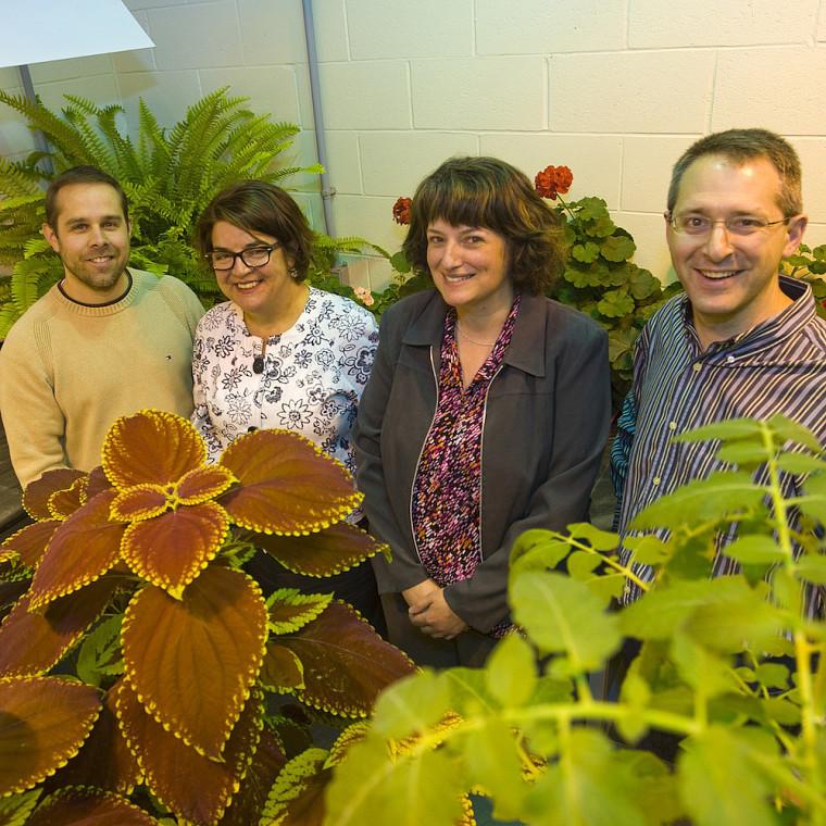 Quelques chercheurs du Centre SÈVE: Sébastien Roy, Carole Beaulieu, Nathalie Beaudoin et Peter Moffett.