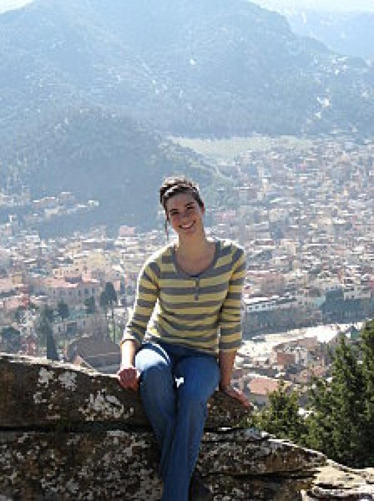 Caroline Marcotte, étudiante à la maîtrise en biologie effectue un stage en écologie internationale à Azrou au Maroc.