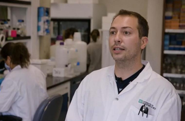 Le Pr Benoit Laurent, dans son laboratoire basé à la Faculté de médecine et des sciences de la santé, où il étudie les mécanismes de vieillissement du cerveau.