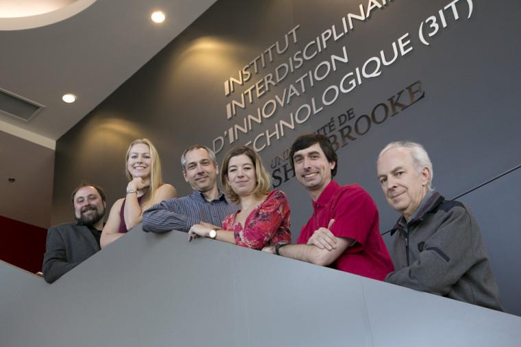 L'équipe de recherche élargie : Jean-François Pratte, Audrey Corbeil-Therrien, Réjean Fontaine, Émilie Gaudin, Marc-André Tétrault, Roger Lecomte. Absent : Serge Charlebois.