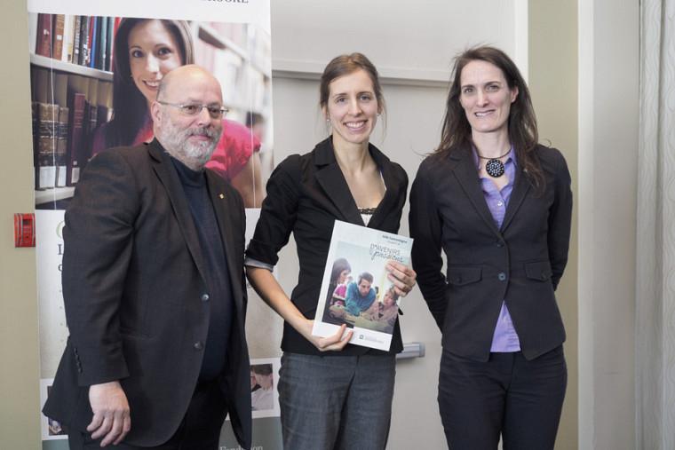 Robert Ouellet, Julie Lamontagne et Marcelle Rousseau.