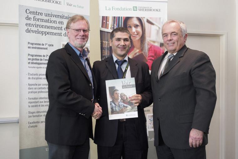 Professeur Rolland Leduc, Abdessamad El Hassni et Michel Montpetit.