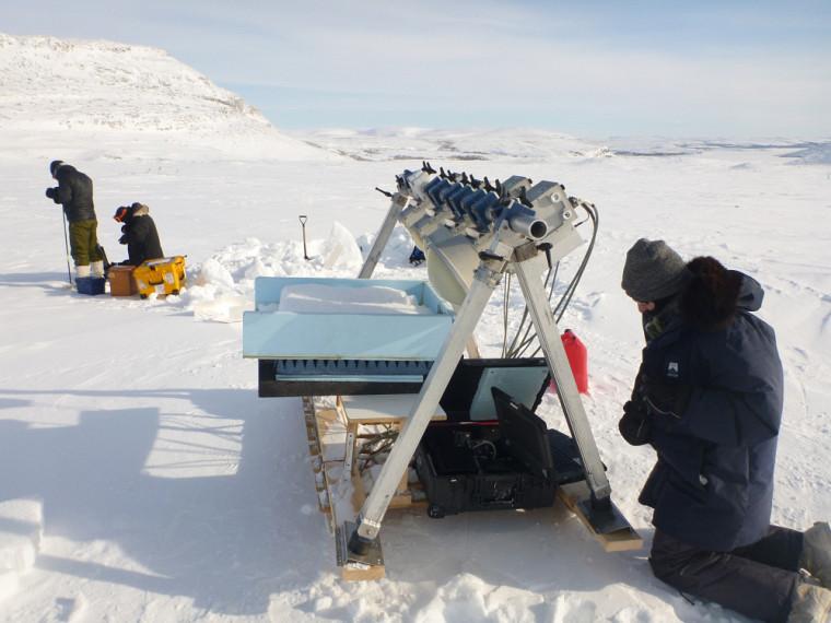 Dans le cadre de sa maîtrise, Olivier a eu la chance de se rendre dans l'Arctique canadien.